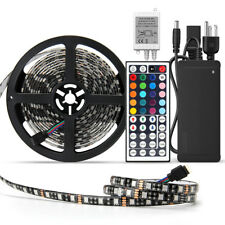 Full Kit 5M RGB 5050 300 LED Strip Light Waterproof+44Keys Remote+DC 12V Power