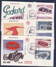 MONACO   enveloppe 1er jour   évolution des lignes automobiles    1975