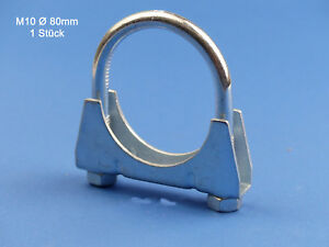 Auspuffschelle Bügelschelle M8 x 40 mm 5 Stk Schelle
