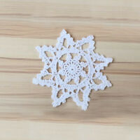 4Pcs/Lot White Vintage Crochet Lace Doilies Cotton Table Mats 15cm Snowflake