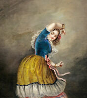 """high quality oil painting handpainted on canvas"""" Danseuse""""@N15940"""