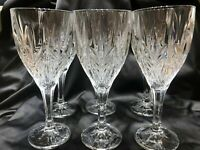 GALWAY IRISH CRYSTAL SET OF SIX WINE / WATER GOBLETS TARA PATTERN Signed
