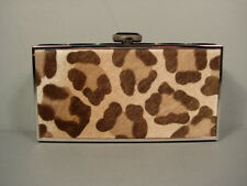 Judith Leiber Leopard Print East West Rectangle Clutch Evening Bag New $3195