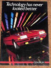 1985 CITROEN BX sales brochure-GT, DTR, RD, TRS, RS, leader