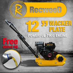 "Wacker Compactor Plate Compaction RocwooD 12"" 5HP 79cc Petrol Engine FREE Oil"