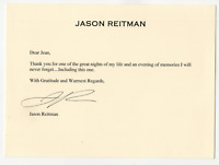 Jason Reitman signed autographed greeting card! RARE! Guaranteed Authentic!