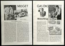 1/6 HP Gas Engine One Cylinder 4 cycle 1936 HowTo build PLANS