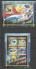 ST121 2016 GUINEA FISH FAUNA & MARINE LIFE FISHES OF REEF 1KB+1BL MNH Stamps