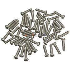 50PCS M2X6mm Screws Stainless Steel Round Head Plain End Metric Machine