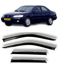 Chrome Trim Side Window Visors Guard Vent Deflectors For Toyota Camry 1996-2001
