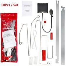 10pc Car Door Key Lock Out Emergency Opening Unlock Tools Kit + Air Pump + Wedge