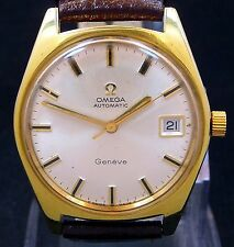 VINTAGE MEN 1969 OMEGA AUTOMATIC QUICK SET DATE DIAL WATCH SERVICE 563 166.041