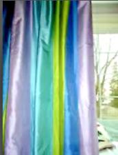 """POTTERY BARN PB TEEN Multi Striped FAB 100% DUPIONI SILK Drape Panel 52""""W X 96""""L"""