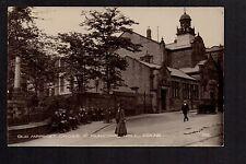 Colne - Old Market Cross & Municipal Hall - real photographic postcard