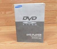 Genuine Samsung DVD Player DVD/Video-CD/CD DVD-611-511 Owners Manual **READ**