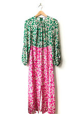 Forever Unique Two Tone Ditsy Floral Print Maxi Dress Size 12