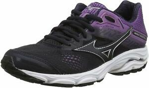 Mizuno Womens Wave Inspire 15 Running Shoes, Black/Violet
