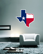 "Texas State Map Flag Wall Decal Large Vinyl Sticker 23"" x 22"""