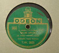 Disco Grammofono 78 Giri Vintage Odeon - Valse Brune - Orchestra tipica Viennese