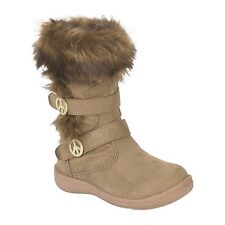 Canyon River Blues Toddler Girls Hazel Tan Faux-Fur Peace Winter Boot Sz 5