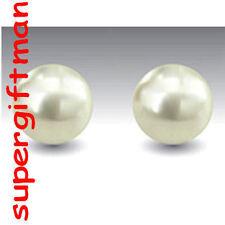 E854 - Boucles OORBELLEN argent Perle d'Eau Douce  5 MM