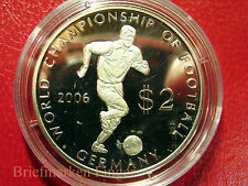 2003 Cook Is. Silver Proof $2 World Cup Soccer(Football) Germany