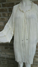 Women's Roaman's Off White Pleated 3/4 Sleeve pull on Top /blouse Plus sz 4X 32W