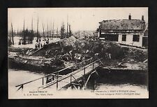 C1917 View of French Soldiers by a foot bridge at Pont-L-Eveque, France