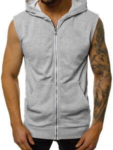 Pullover Vest Sleeveless Casual Men's Hoodie Hooded Tank Tops Muscle Sweatshirt