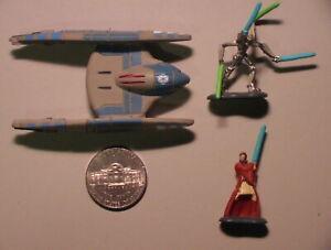 Star Wars 2005 Lot of 3 Vulture/Greivous/Obiwan Micro Machines C-6 Hasbro Galoob