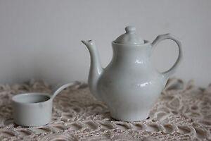 DINETTE Porcelaine de Limoges Cafetière et Casserole Collection Poupée