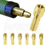 6Pcs Drill Chucks Collet Bits Brass 0.8-3.2mm 4.3mm Shank For Dremel Rotary Tool