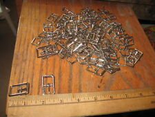 80 --1/2 IN SILVER CENTER BAR BUCKLES-HEADSTALLS-BELTS-HATBANDS-WHOLESALE LOT