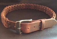 Worn Look Distressed Real Leather Belt-Flexible-Amish Made-Heavy Duty 1-1/2 wide