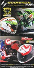 2014 Alvaro Bautista/Alexis Masbou Scorpion EXO Honda Indy Moto GP postcard