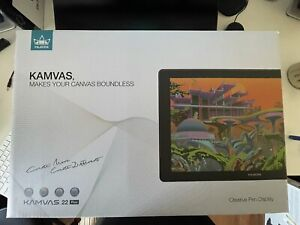 HUION KAMVAS 22 Plus Graphics Drawing Tablet Display QD LCD Screen 140% s RGB
