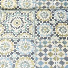 Moroccan Tile Teal White Blue Green Mosaic Wallpaper Kitchen Bathroom 118001 UK