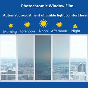 VLT75%-20% Photochromic Window film Smart optical-control Tint solar protection