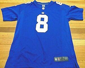 NIKE NFL ON FIELD NEW YORK GIANTS DANIEL JONES JERSEY SIZE YOUTH XL (18-20)