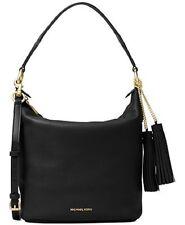 New Michael Kors Elana Large East West Convertible Shoulder Bag black leather