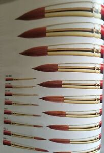 WINSOR & NEWTON SCEPTRE GOLD II SABLE/SYNTHETIC BRUSHES