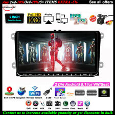 9''2 Din GPS Android Car Radio for VW/Seat +CAM BT FM Touch iOS Mirror Link Wifi