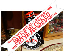 Black Americana Segregation Steel Enamel WORLD FAMOUS CLOCK Chicken Inn