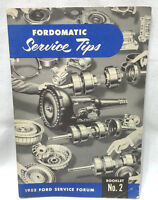1952 Fordomatic Service Tips Ford Service Forum #2 Booklet / Book