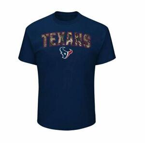 Houston Texans Men's Heritage RealTree Camo Logo T-Shirt - Navy