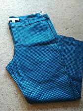 Old Navy Pixie Pants, size 20, metallic blue/black(houndstooth), NWT