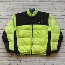 Vintage Nike ACG Quilted Puffer Down Jacket Size L Neon Green