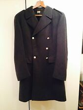 ORIG 1940s WWII~2~SWEDISH ARMY WOOL JACKET/ TRENCH COAT~LARGE~BLK~STEAMPUNK