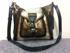 elenco Handtasche echt Leder Shopper groß mettalic gold silber anthrazit Luxus