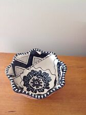 Blue Sky Black & Cream Floral Cambria Nouveau Small Bowl